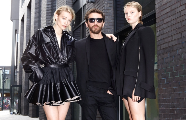 David Koma with Models in his looks.