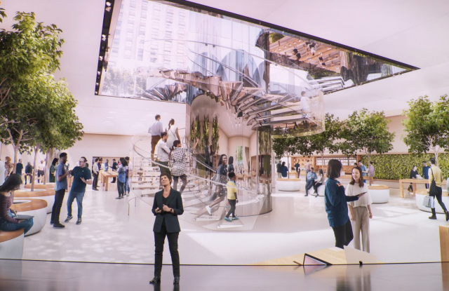 Apple's Fifth Avenue flagship.