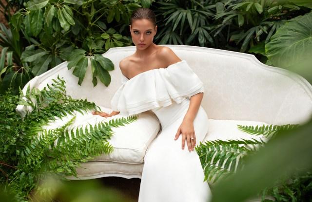 A Zac Posen for White One wedding dress.