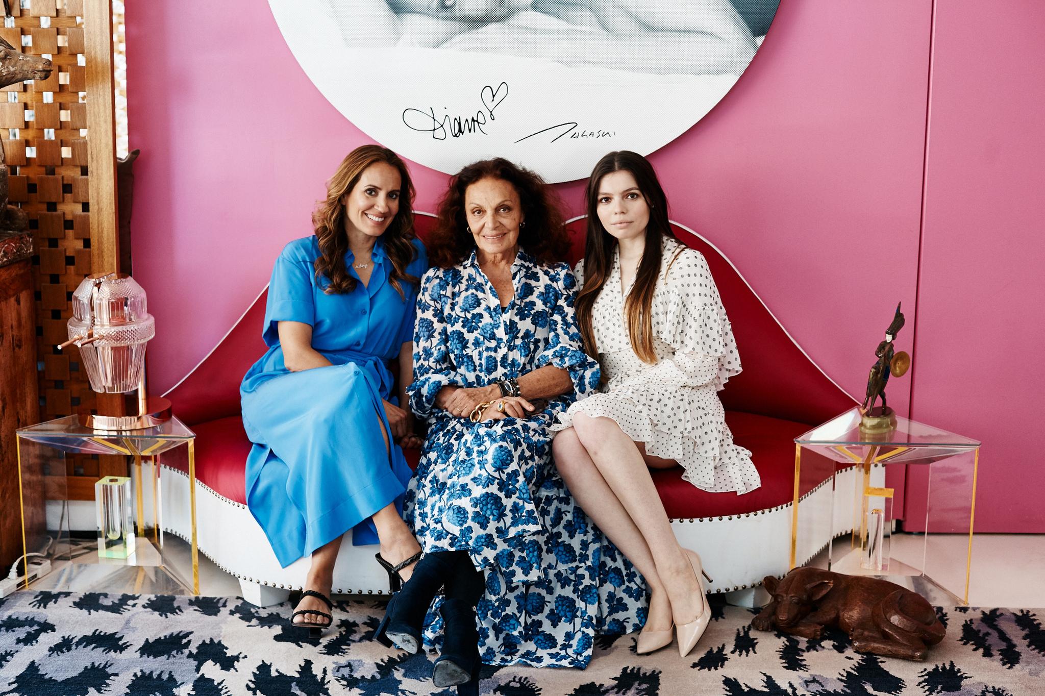 Sandra Campos, Diane von Furstenburg, and Daniella Pierson