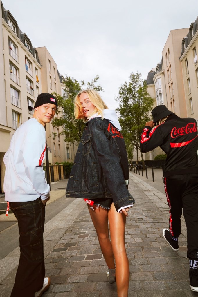 """Looks from the Diesel x Coca-Cola """"The (Re)Collection"""" capsule."""