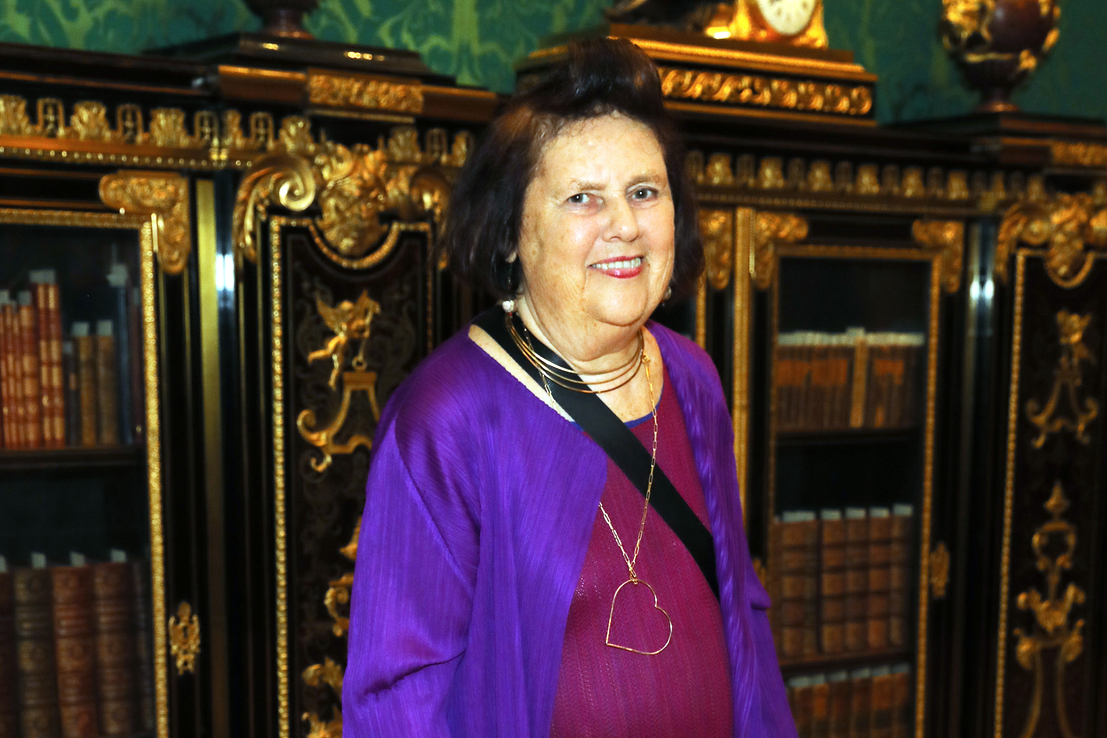 LONDON, ENGLAND - SEPTEMBER 16: Suzy Menkes attends the launch of Cabana x Carolina Herrera Tabletop collaboration at the The Wallace Collection on September 16, 2019 in London, England. Pic credit: Dave Benett