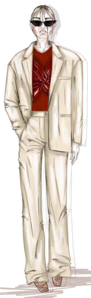 A sketch from Drome's spring 2020 collection.
