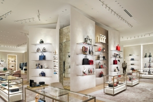 Accessories are a key part of the mix at the new Dior store.