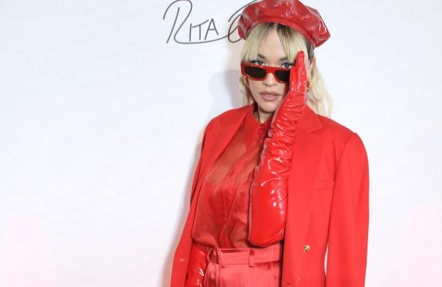 Rita Ora at the ESCADA x RITA ORA capsule launch event during Paris Fashion Week.