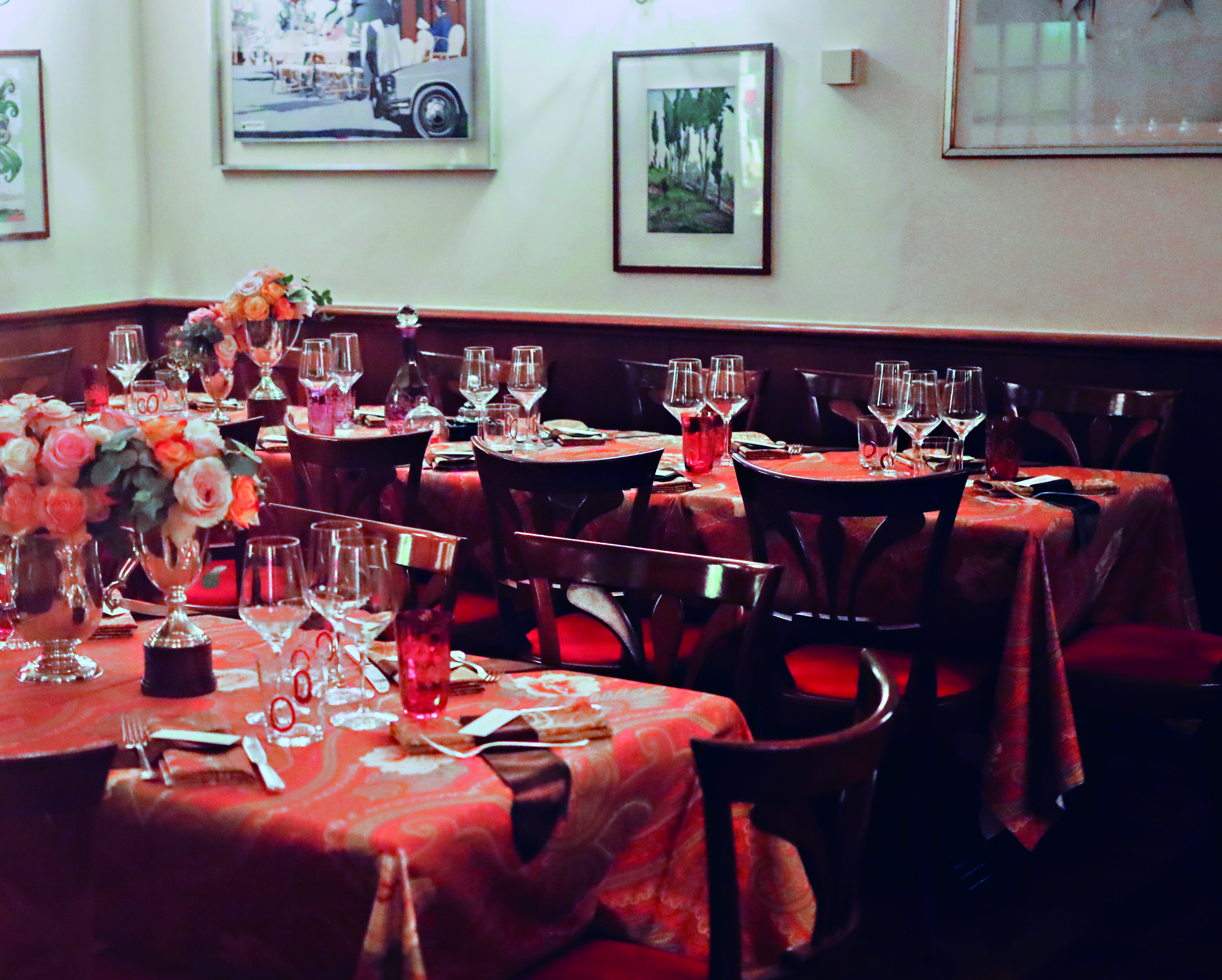 The Etro set up for the Bice restaurant in Milan.