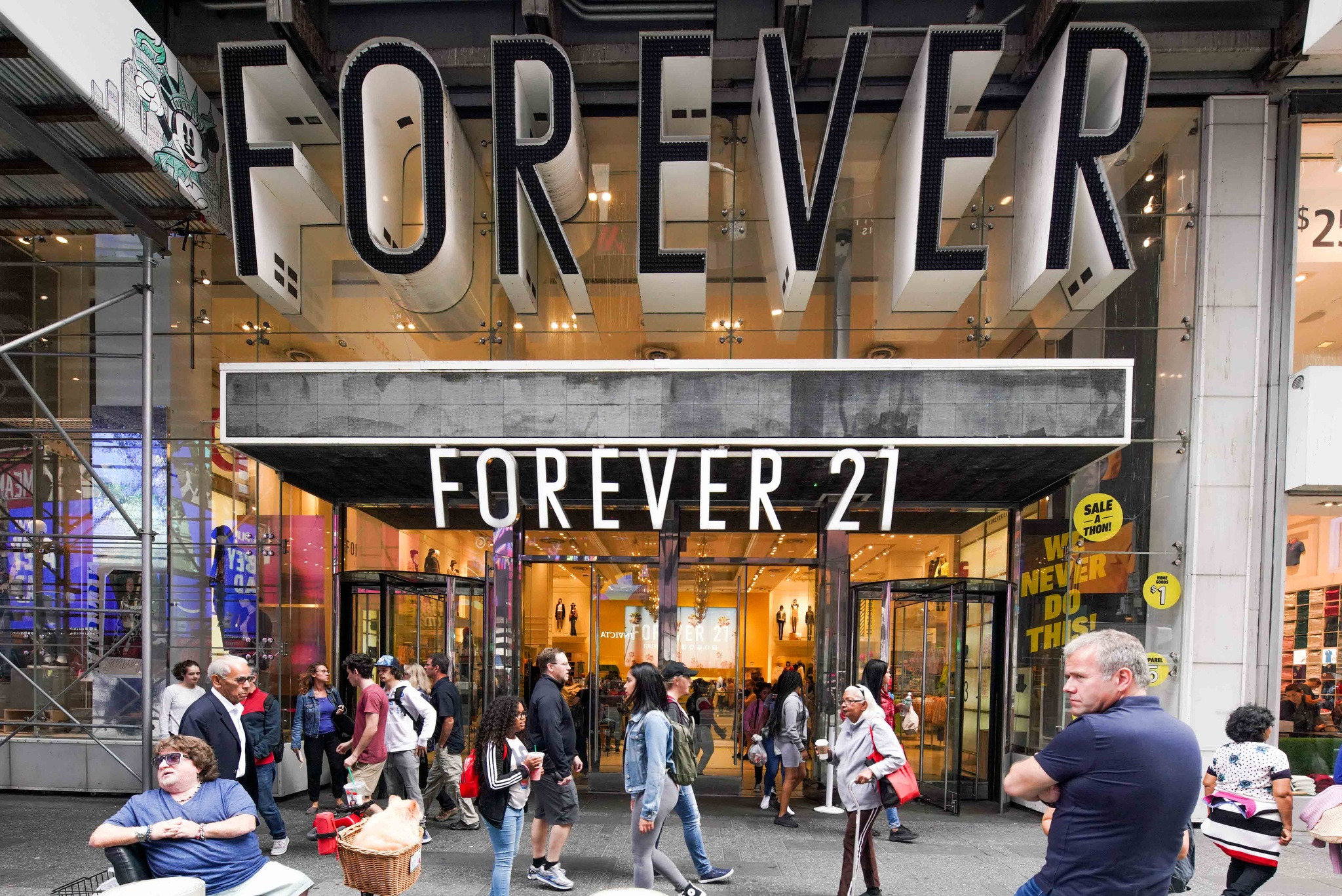 Forever21 in Times Square.