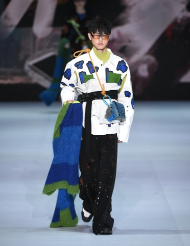 A look from the winning collection Forgetful Still by Wilson Yip.
