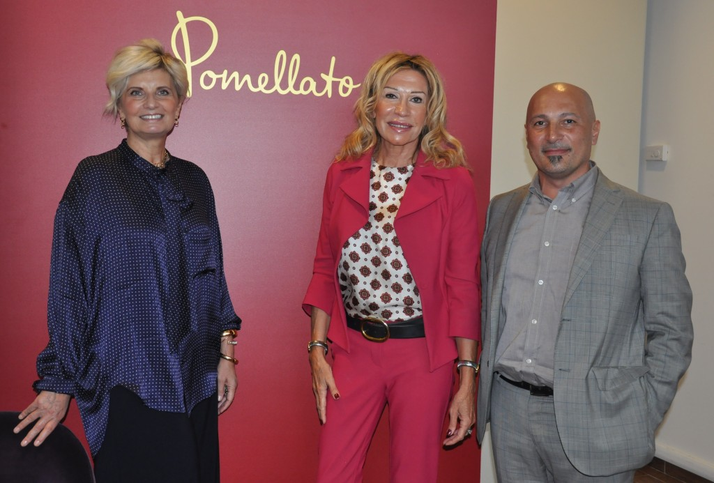 Pomellato ceo Sabina Belli with Diego Montrone, president of Galdus and Melania Rizzoli, region councillor of the Lombardy region.