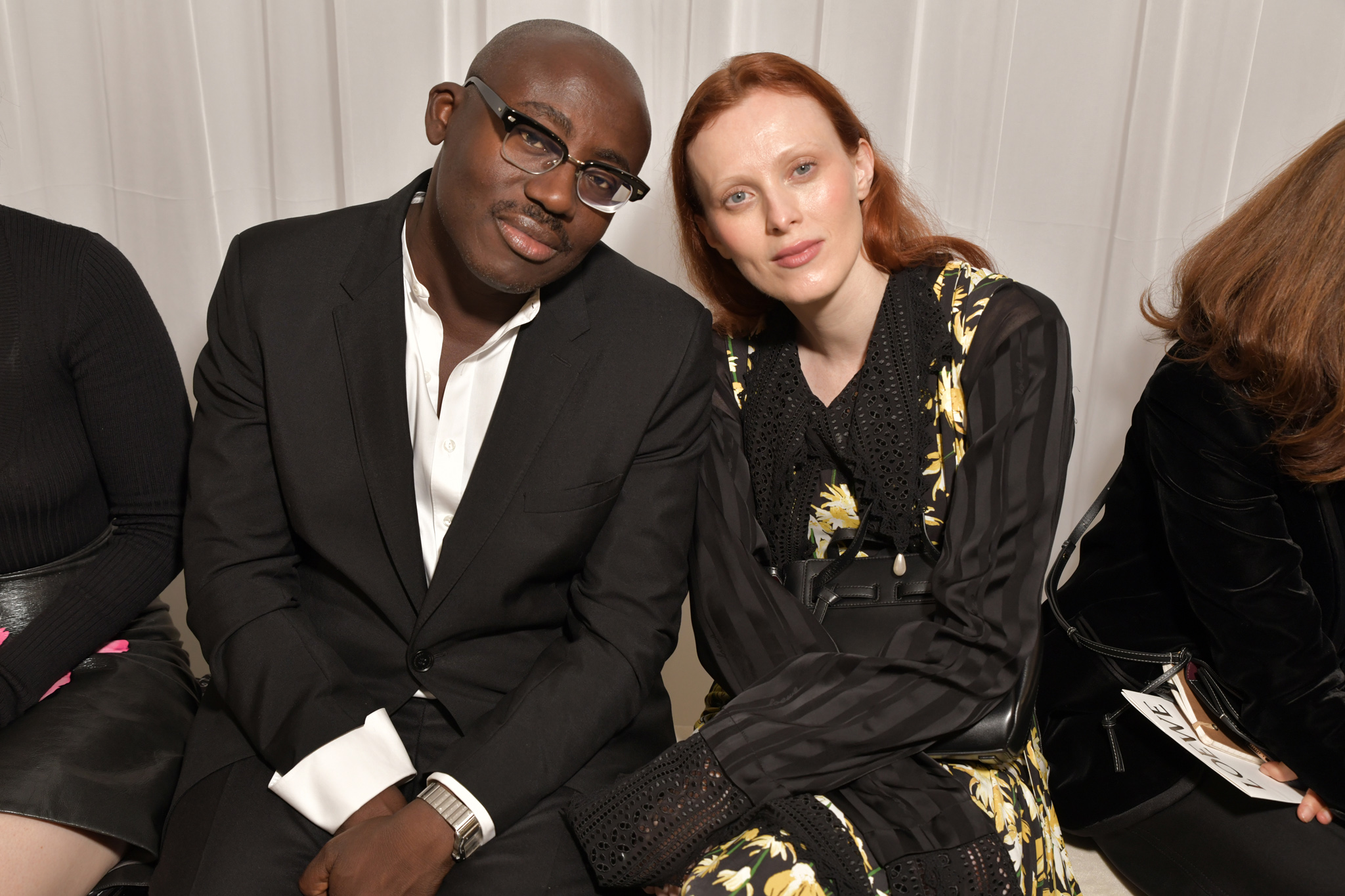 Edward Enninful and Karen Elson