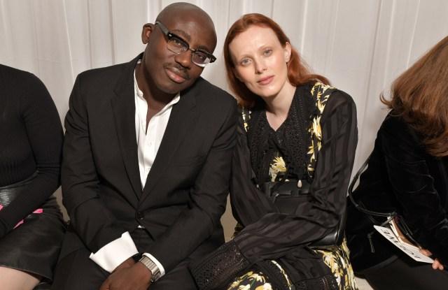 Edward Enninful and Karen Elson