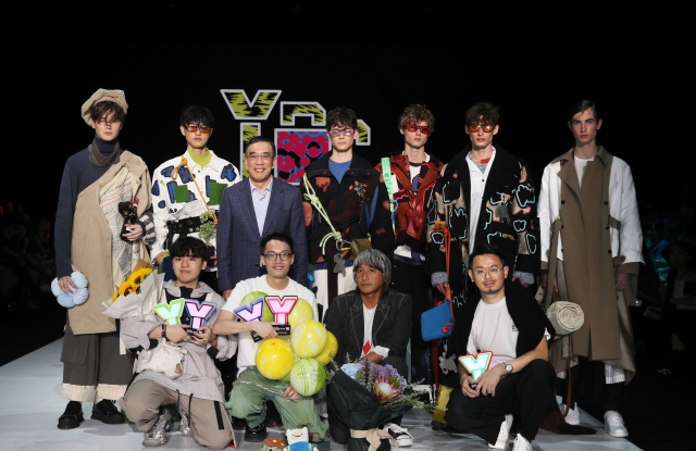 Centrestage Young Designer Contest 2019 winning designers and their collections pose with some of the contest judges.