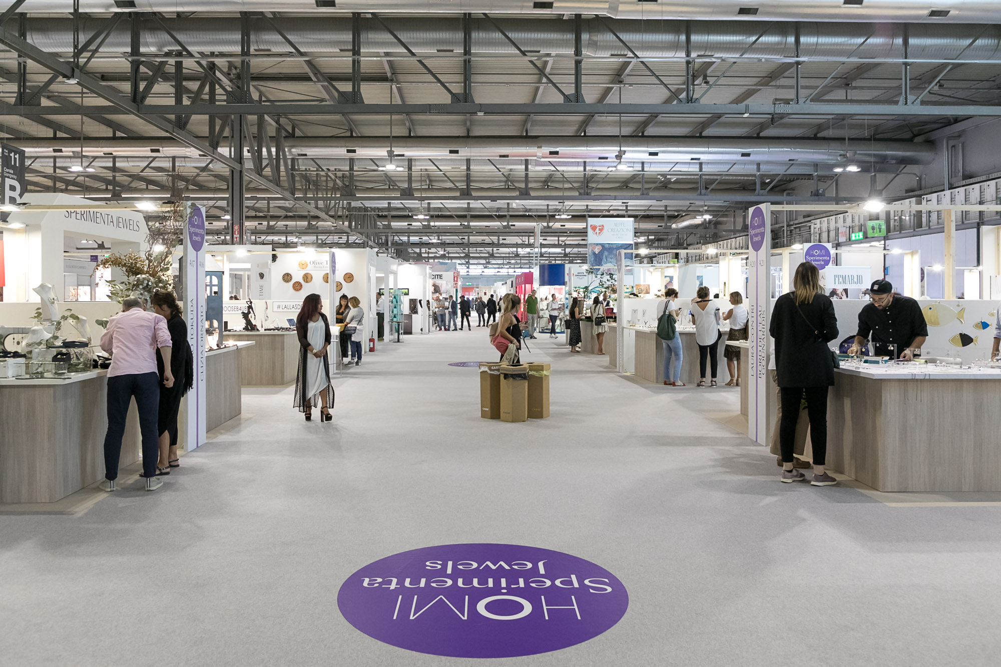 The atmosphere at the Homi Fashion&Jewels trade show in September.