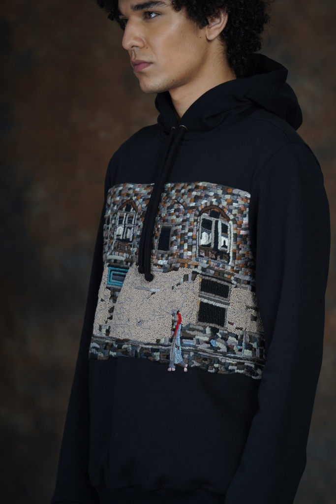 Embroidered sweatshirt by Huemn.