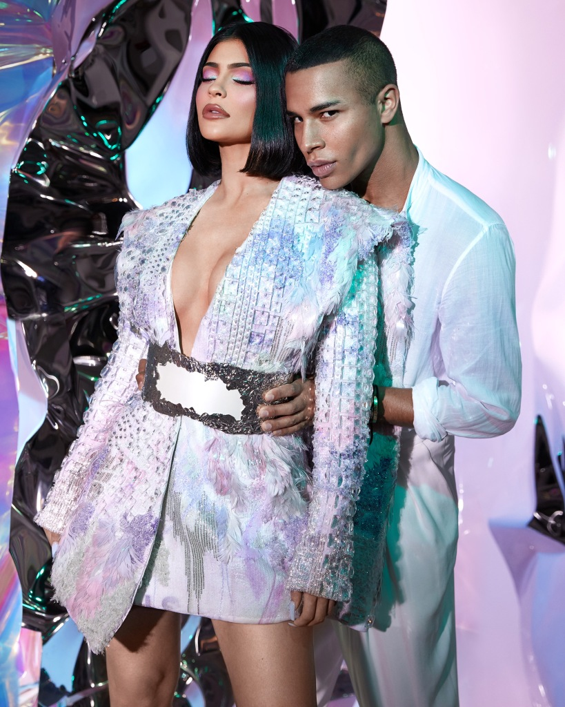 Kylie Jenner with Olivier Rousteing