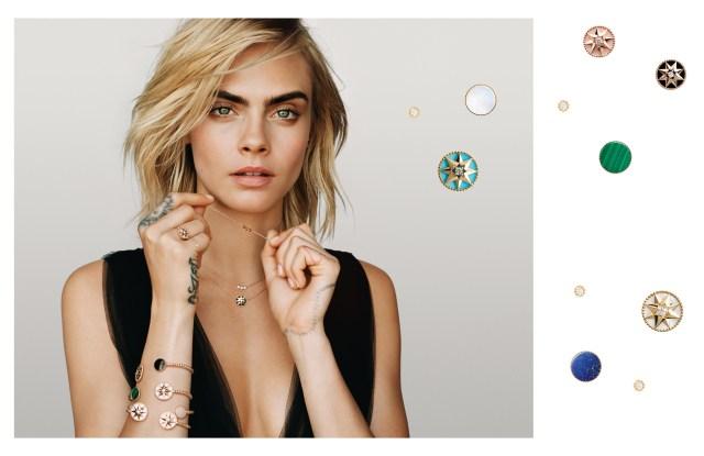 Cara Delevingne in Dior's new Rose des Vents  Joaillerie campaign.