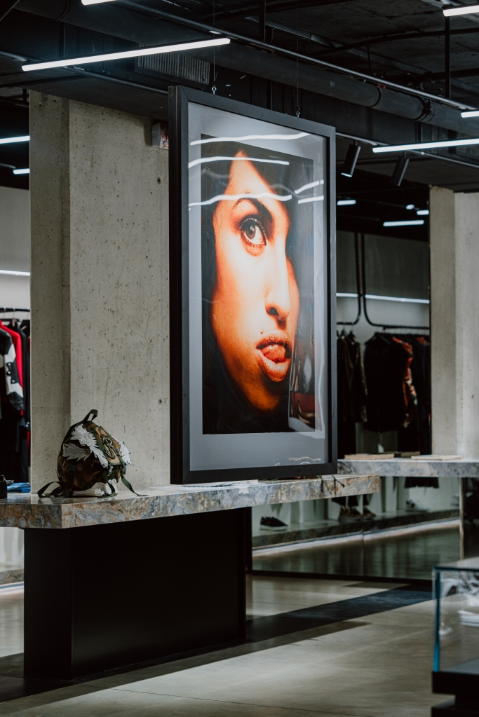 A look at the new John Richmond's Milan flagship hosting images of a young Amy Winehouse.
