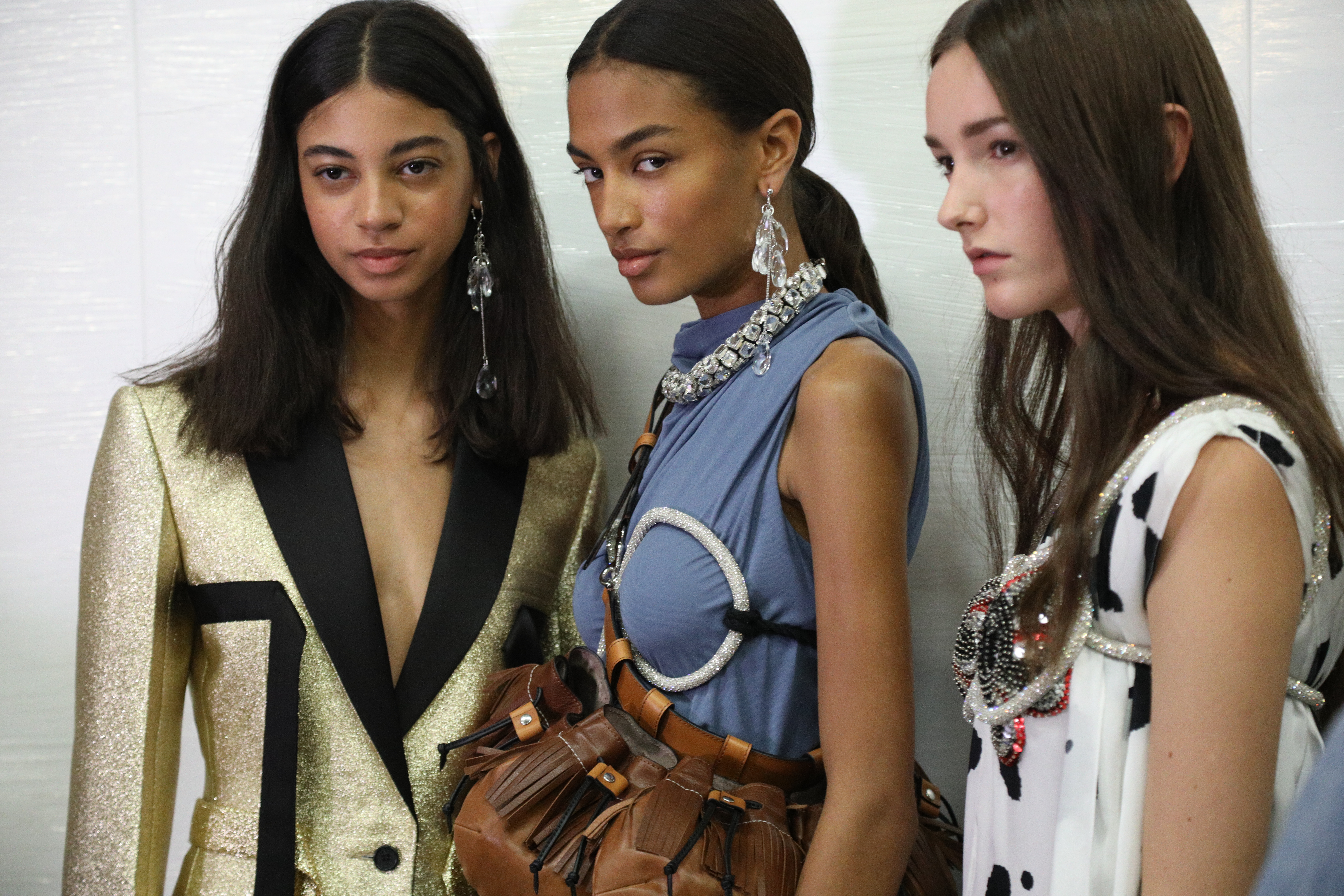 Backstage at JW Anderson RTW Spring 2020