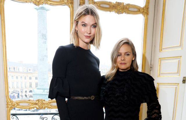Karlie Kloss and Alicia Silverstone backstageChristian Siriano show, Backstage, Spring Summer 2020, Paris Fashion Week, France - 25 Sep 2019