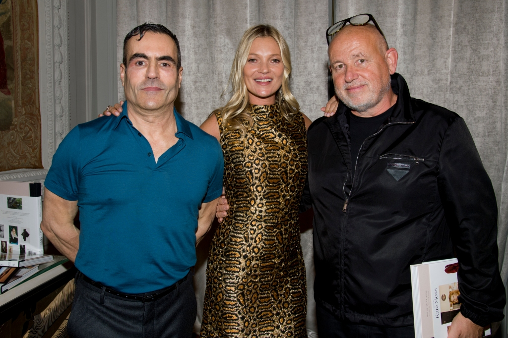 Jorge Yarur, Kate Moss and Fabien Baron.