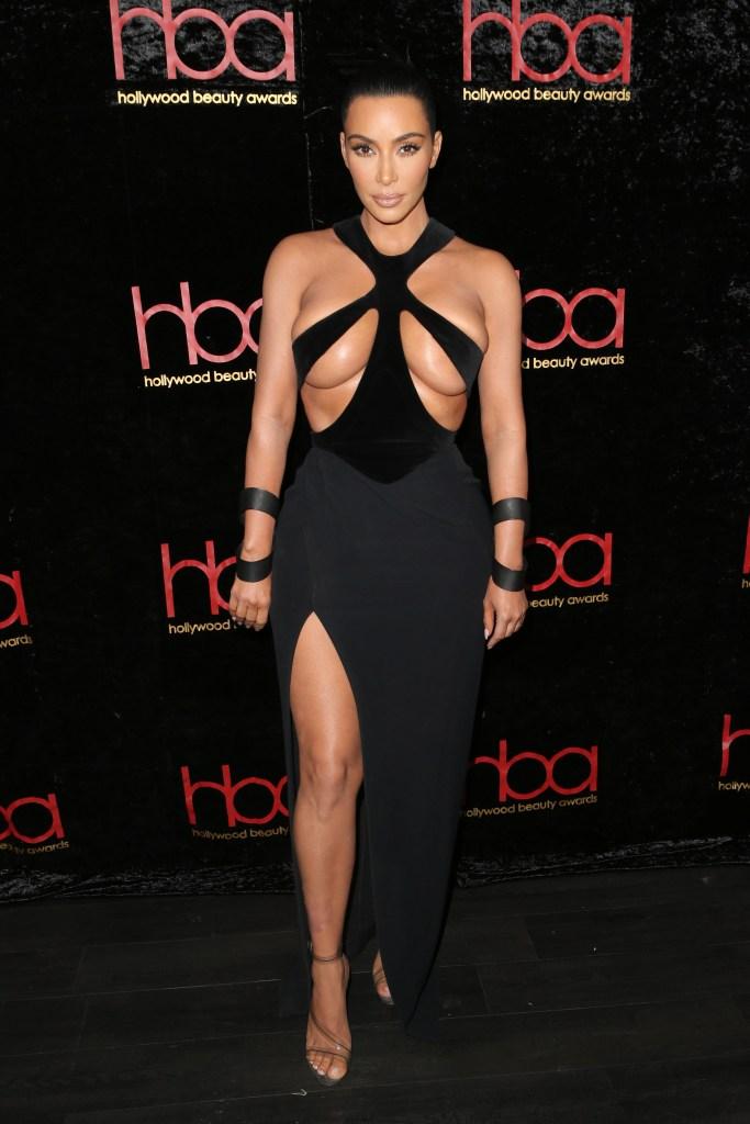 Kim Kardashian West5th Annual Hollywood Beauty Awards, Los Angeles, USA - 17 Feb 2019 Wearing Mugler Vintage (1998)