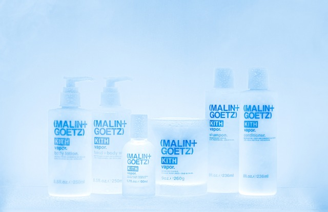 The Kith and Malin + Goetz unisex skin-care collaboration.