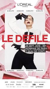 The poster for L'Oréal Paris' show