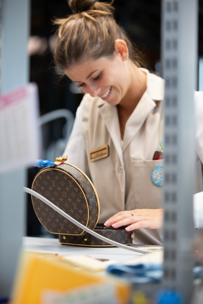 IA worker at the Louis Vuitton workshop in Beaulieu-sur-Layon.