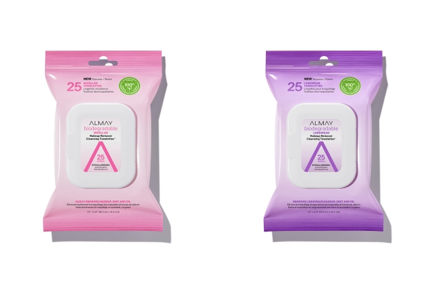 Almay biodegradable cleansing towelettes