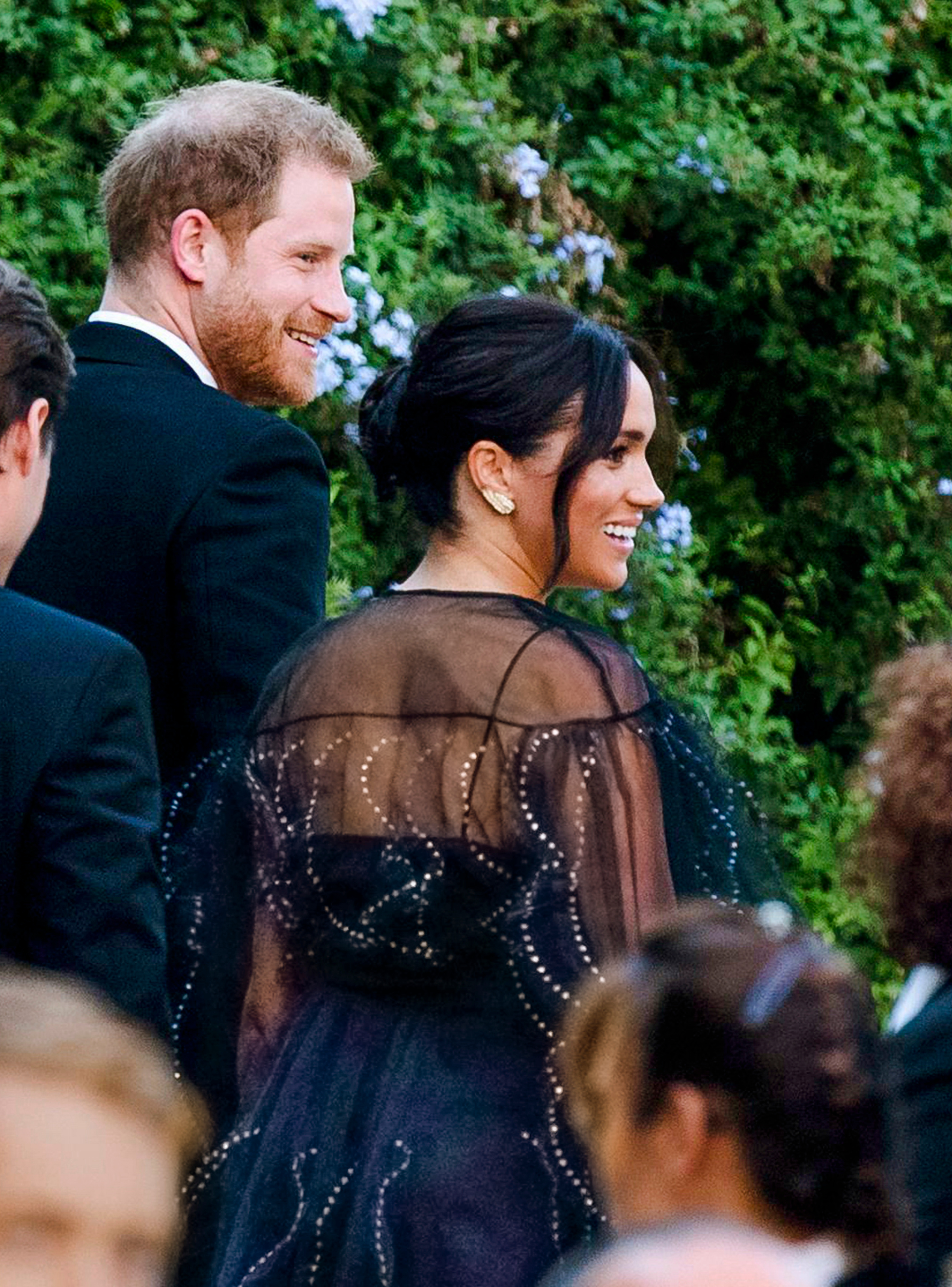 Britain's Prince Harry and his wife Meghan, Duchess of Sussex arrive to the wedding of Misha Nonoo and Michael Hess in Rome, . Britain's Prince Harry and his wife Meghan, Duchess of Sussex will attend the wedding of their friends before leaving on an official trip to AfricaBritain Royals, Rome, Italy - 20 Sep 2019