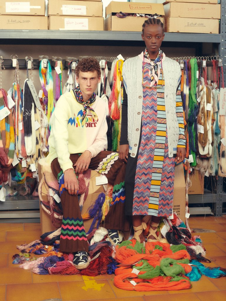Looks from the M Missoni spring 2020 collection.