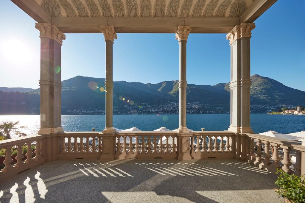 Mandarin Oriental's main terrace overlooking Lake Como.