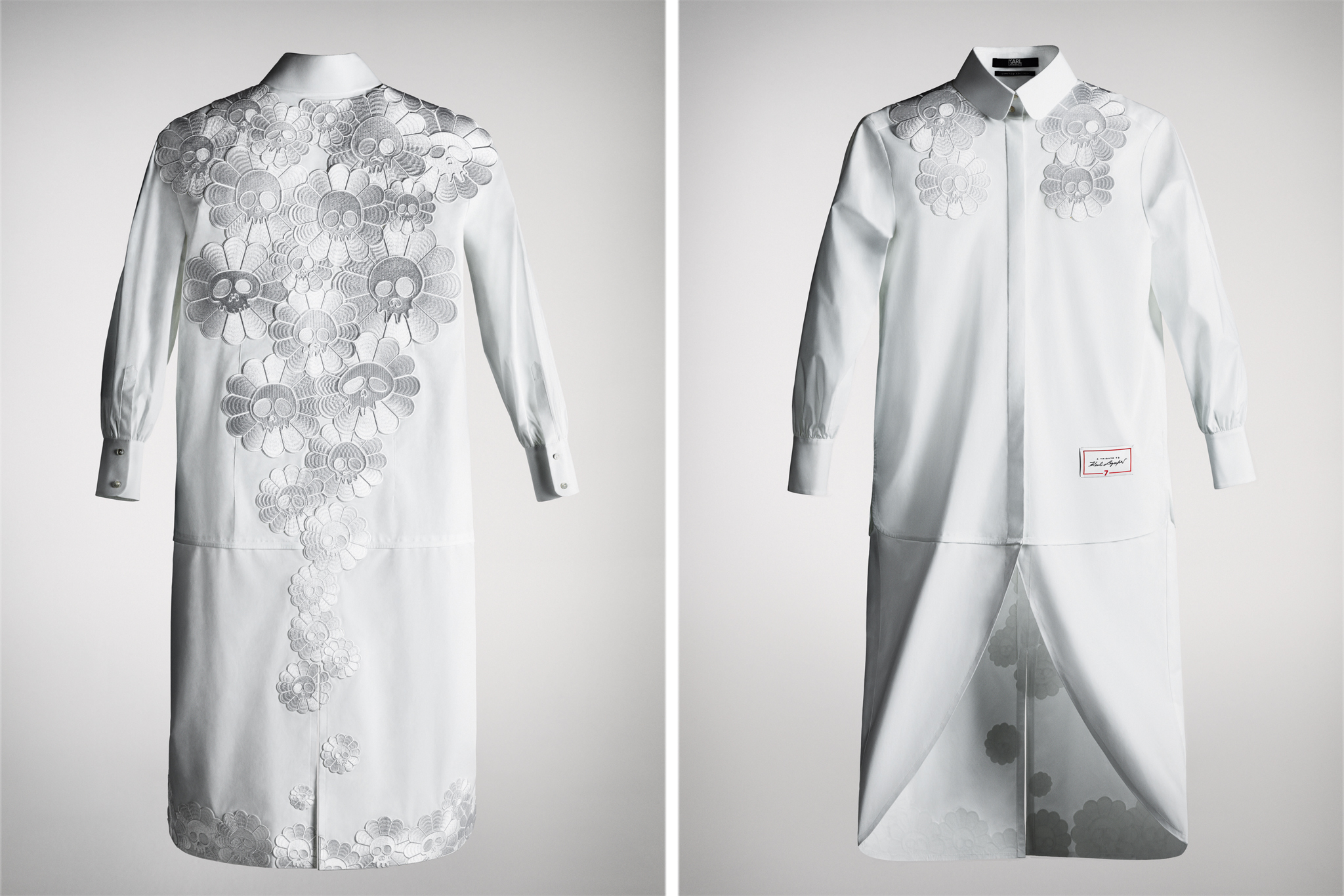 The shirt designed by Takashi Murakami