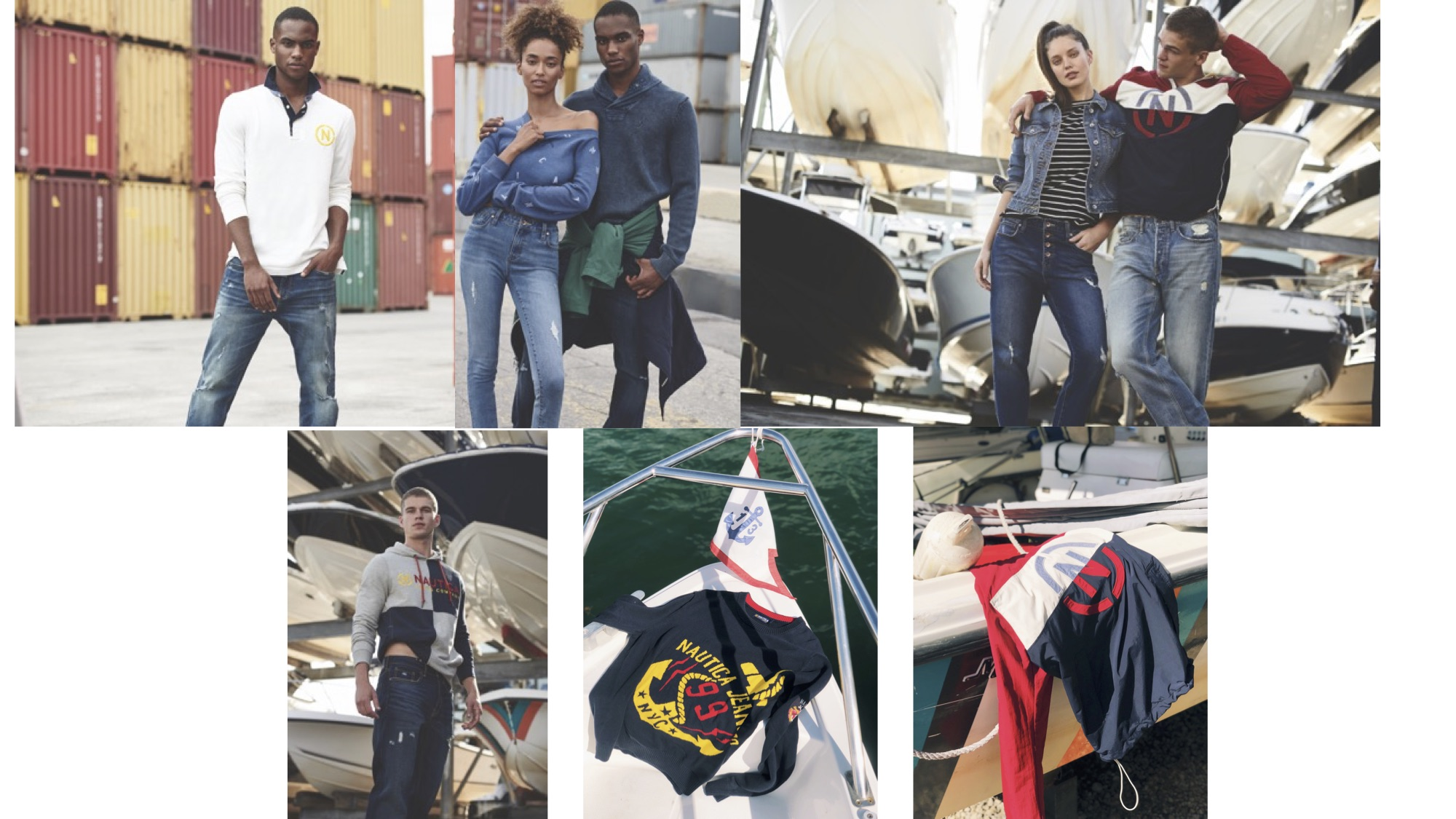 A marketing image for the new Nautica Jeans Co. collection.
