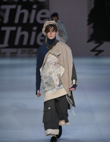 A look from second runner up Enzo Chan's collection.
