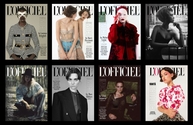 Some of L'Officiel Italia covers for its September edition.