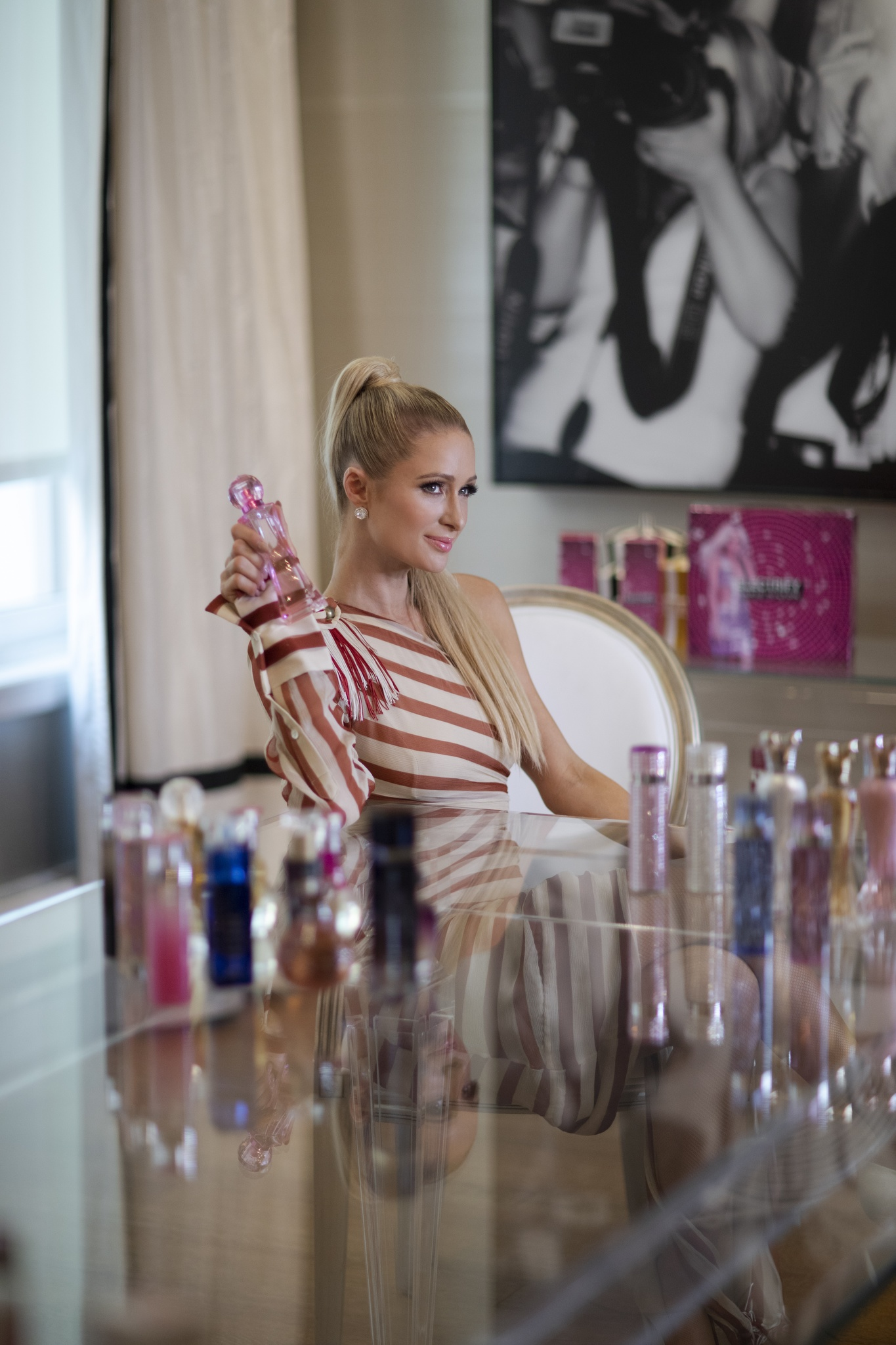 Paris Hilton in her home in New York City.