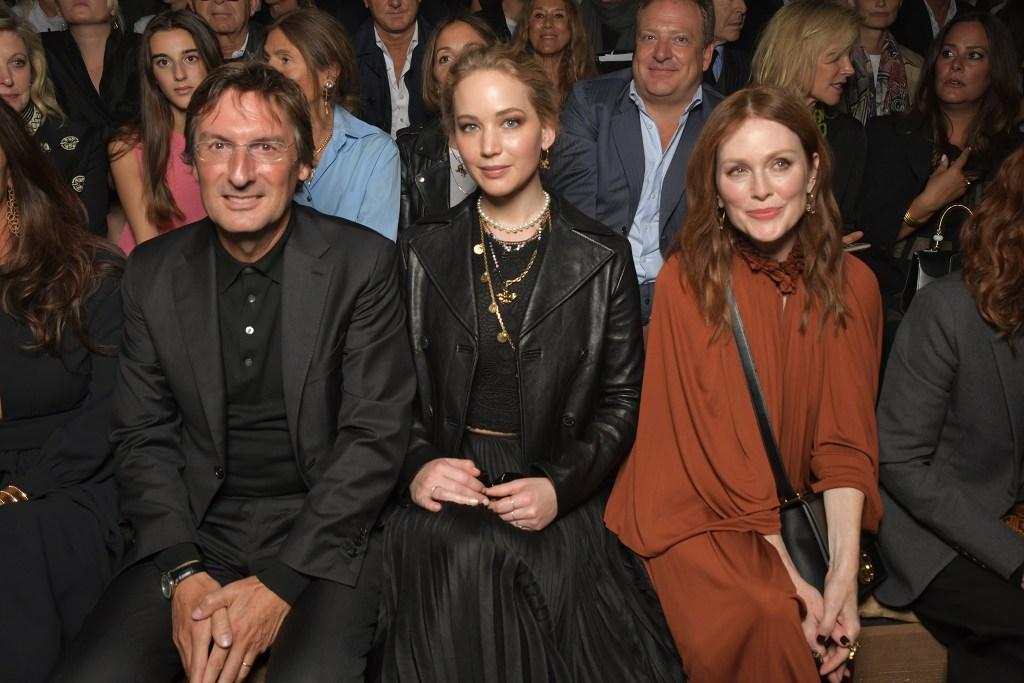 Pietro Beccari, Jennifer Lawrence and Julianne Moore
