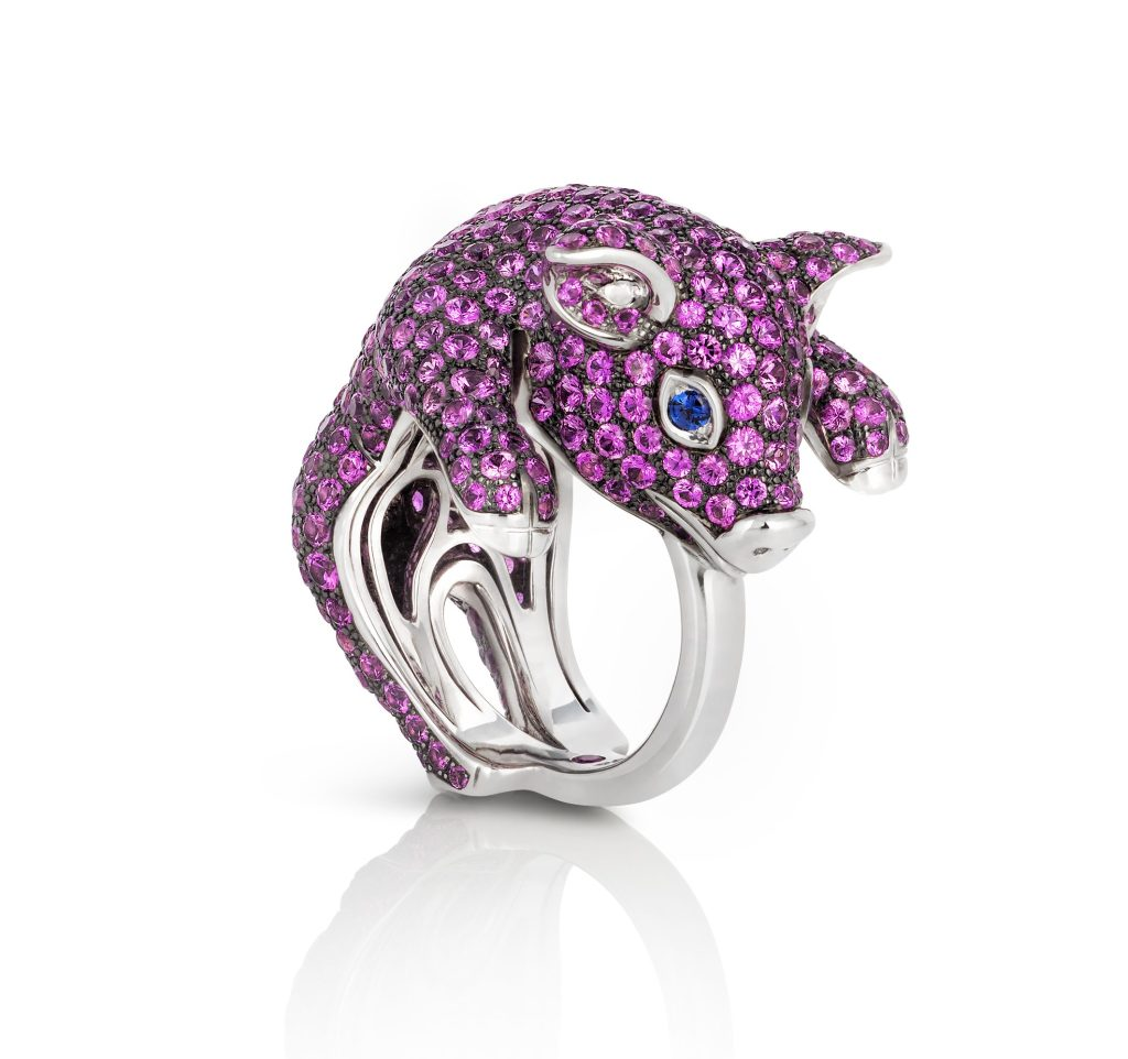 A piglet ring from Roberto Coin's Animalier collection.