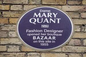 LONDON, ENGLAND - SEPTEMBER 16: A general view of proceedings during the plaque unveiling for Dame Mary Quant on the King's Road during London Fashion Week to commemorate the legendary fashion designer's first store, on September 16, 2019 in London, England. (Photo by Luke Walker/Getty Images for V&A)