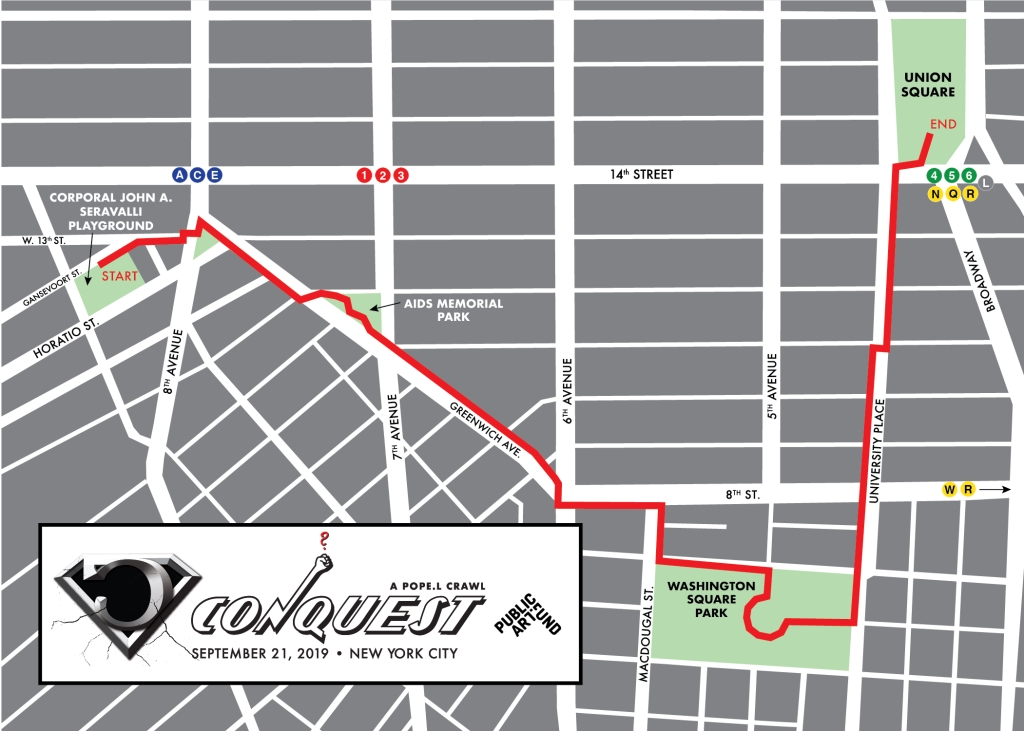 "Route map for ""Conquest."""