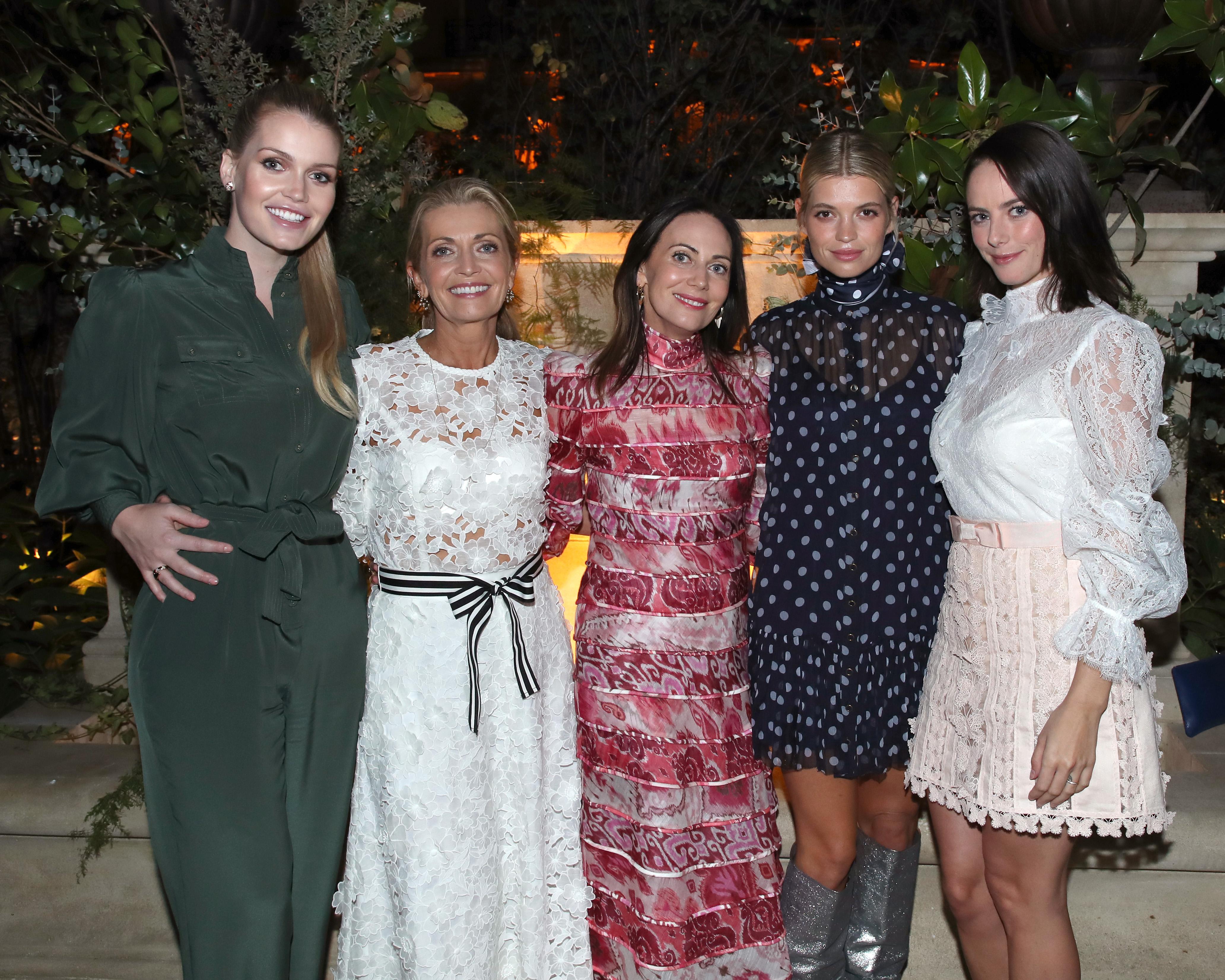 Lady Kitty Spencer, Simone Zimmermann, Nicky Zimmermann, Pixie Geldof and Kaya Scodelario.