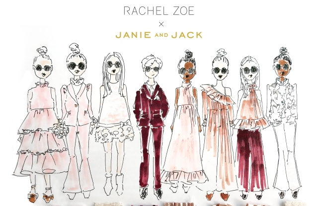Some sketches of the Rachel Zoe x Janie and Jack collection.