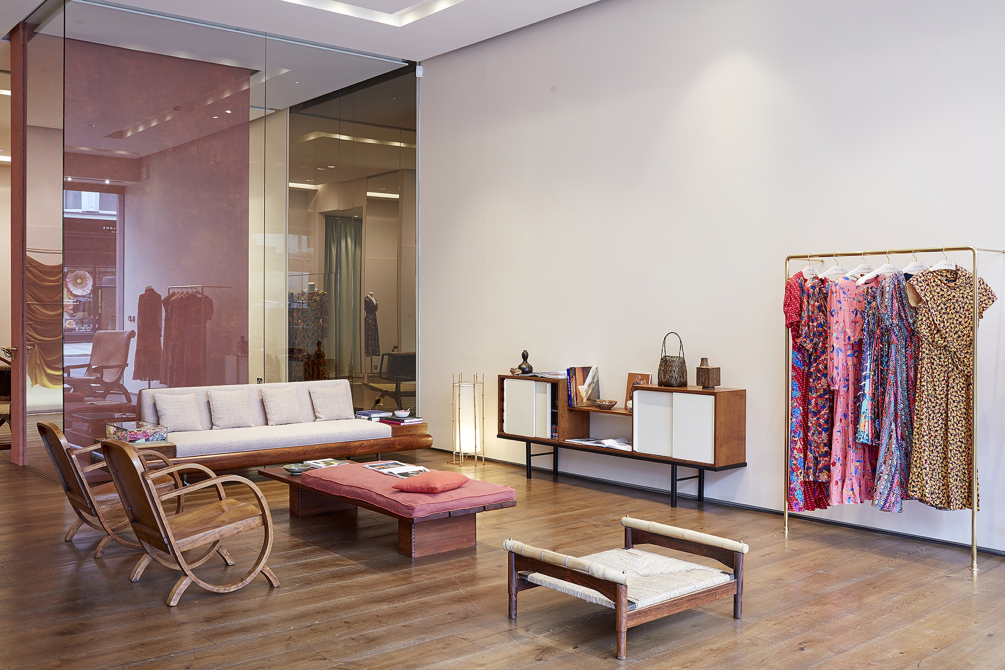 The interior of the Saloni pop-up store in London.