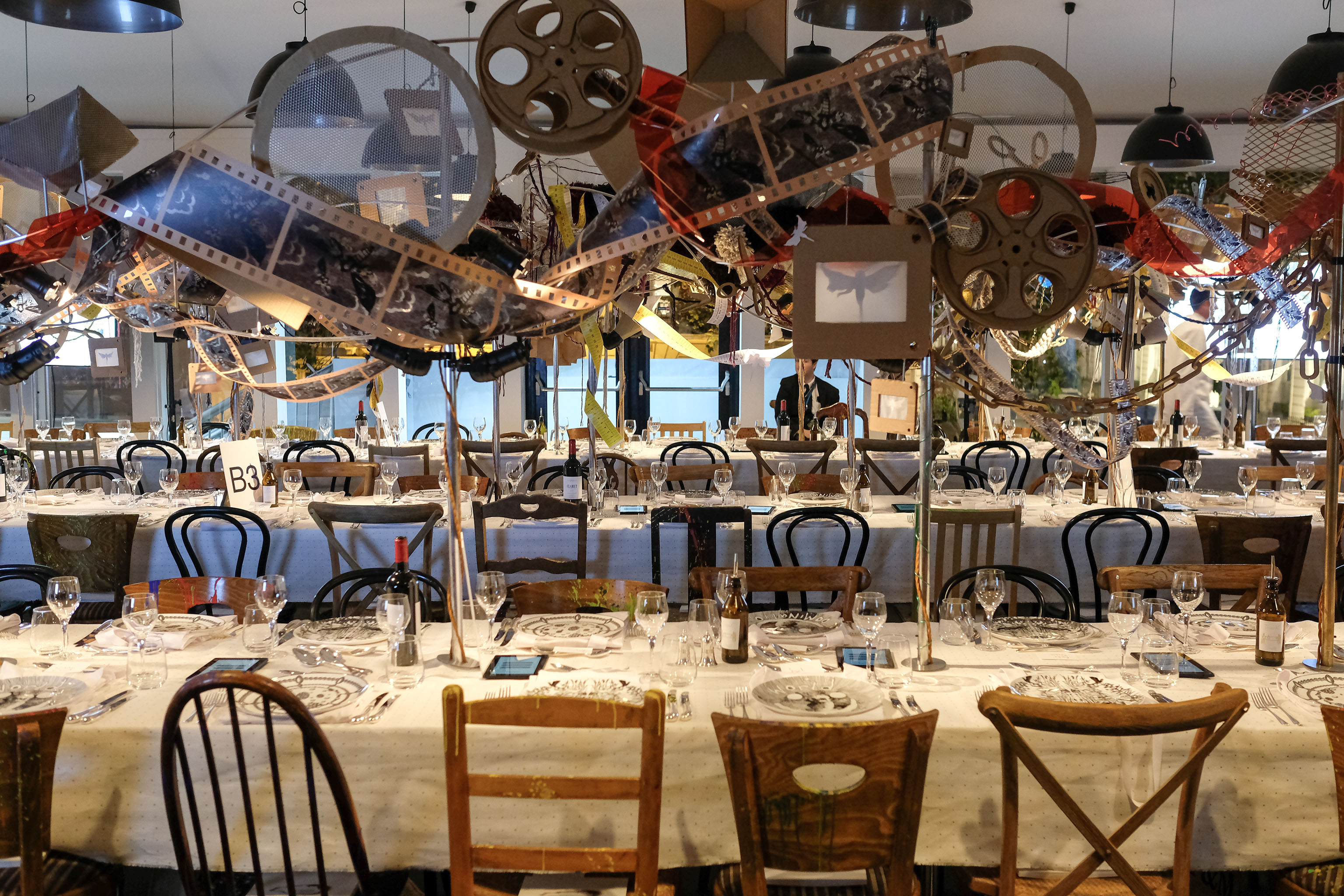 LONDON, ENGLAND - SEPTEMBER 16: 'The Craftsman's Dinner' hosted by the Sarabande Foundation at LAPADA Art & Antiques Fair, Berkeley Square on September 16, 2019 in London, England. Pic Credit: Dave Benett
