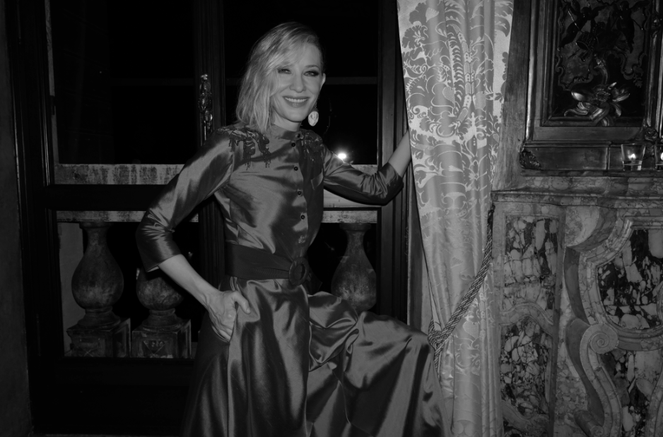 Cate Blanchett at the Armani Beauty intimate dinner party in Venice.