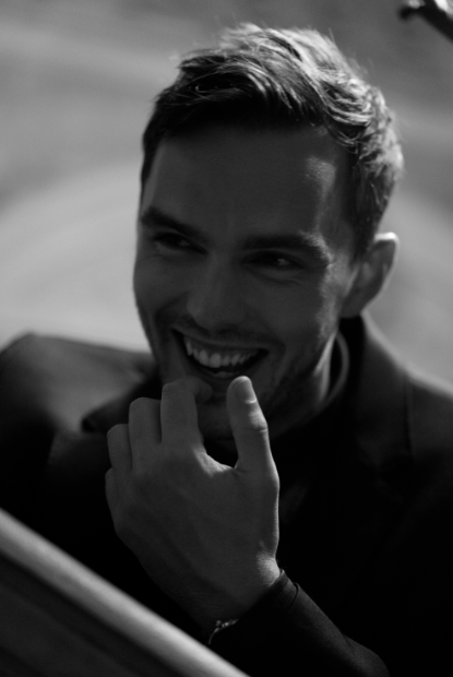 Nicholas Hoult at the Armani Beauty intimate dinner party in Venice.