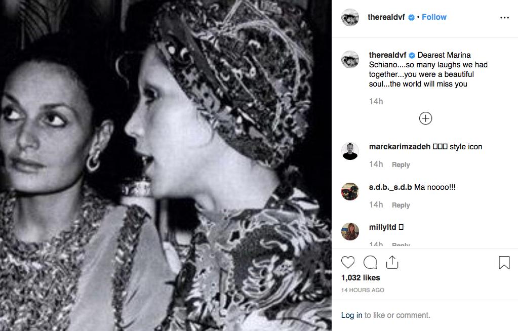 Diane Von Furstenberg's post on Instagram.