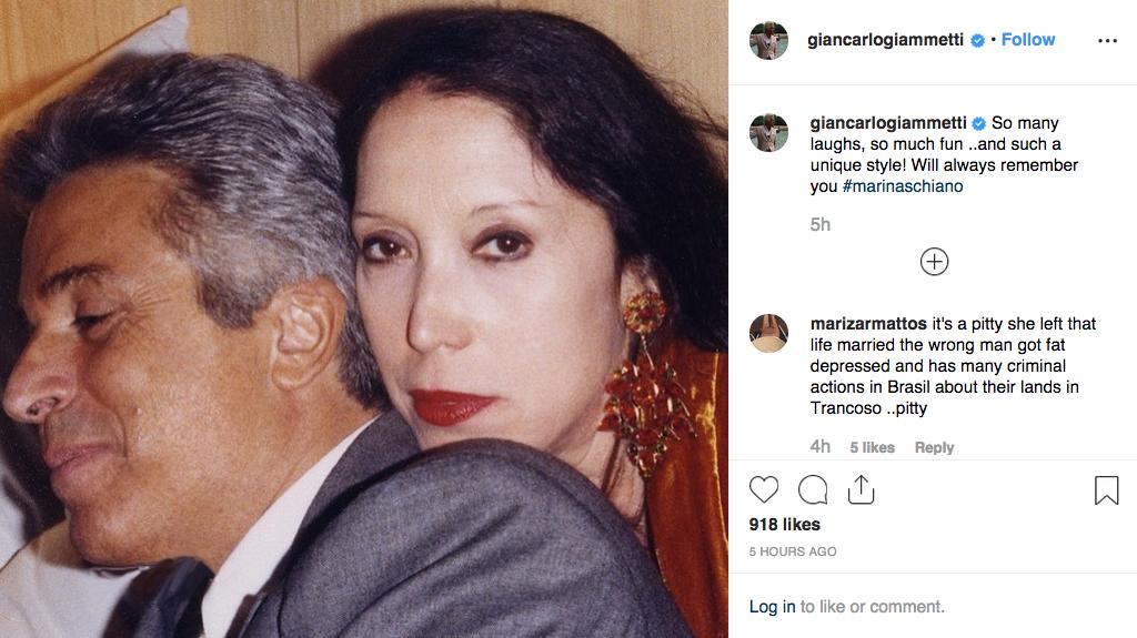 Giancarlo Giammetti's post.