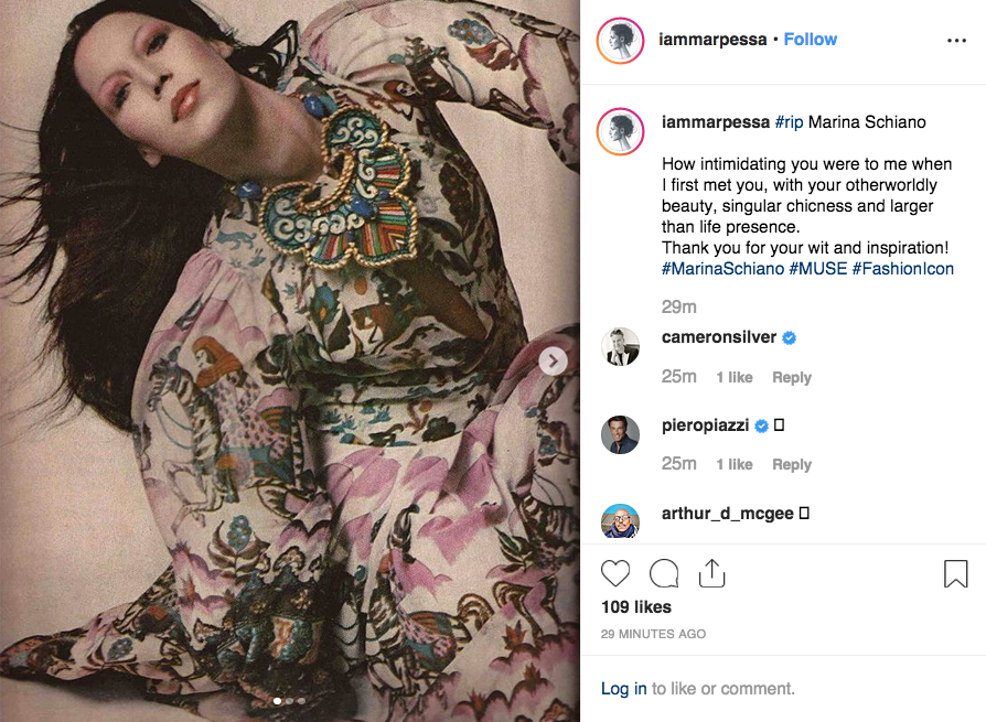 Marpessa Hennink's post on Instagram.